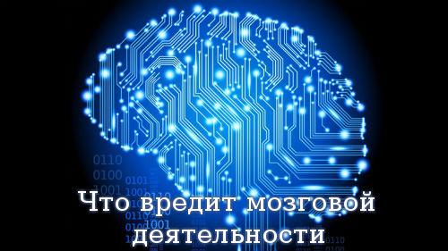 Что вредит мозговой деятельности