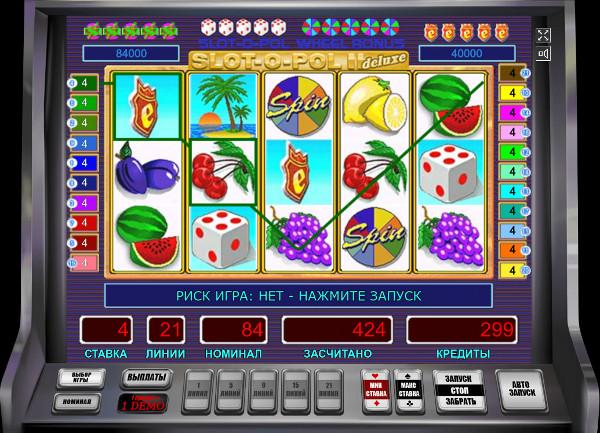 Игровой автомат Slot-o-Pol Deluxe - играй без риска на легальное казино Азино 777