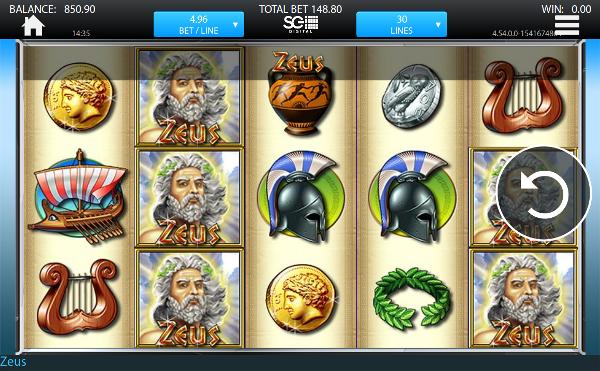 Игровой автомат Zeus - несметные сокровища древних богов в казино Вулкан