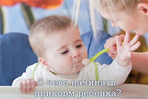 С чего начинать прикорм ребенка?